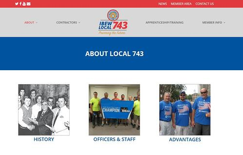 BMA Media redesigns IBEW Local 743