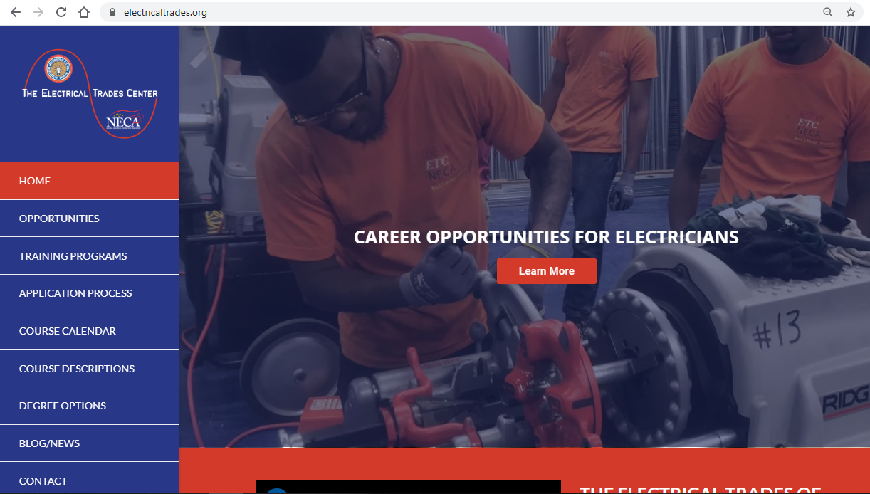 Electrical Trades Center - BMA Media Group - Union website by LaborTools