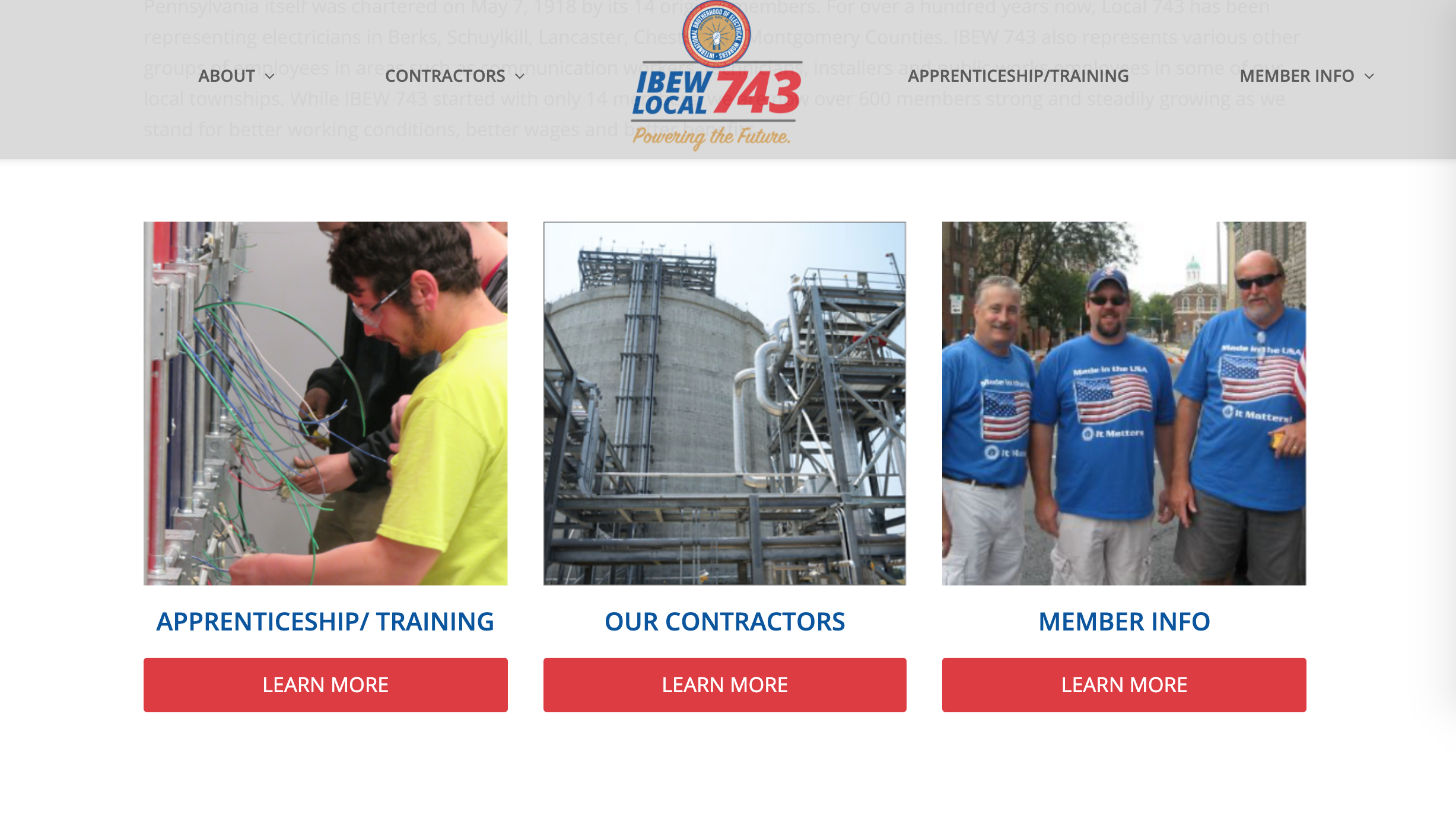 IBEW Local 743 Union Website - BMA Media Group Labor Tools