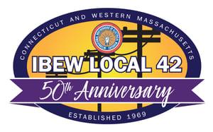 IBEW42-50th Anniversary Logo
