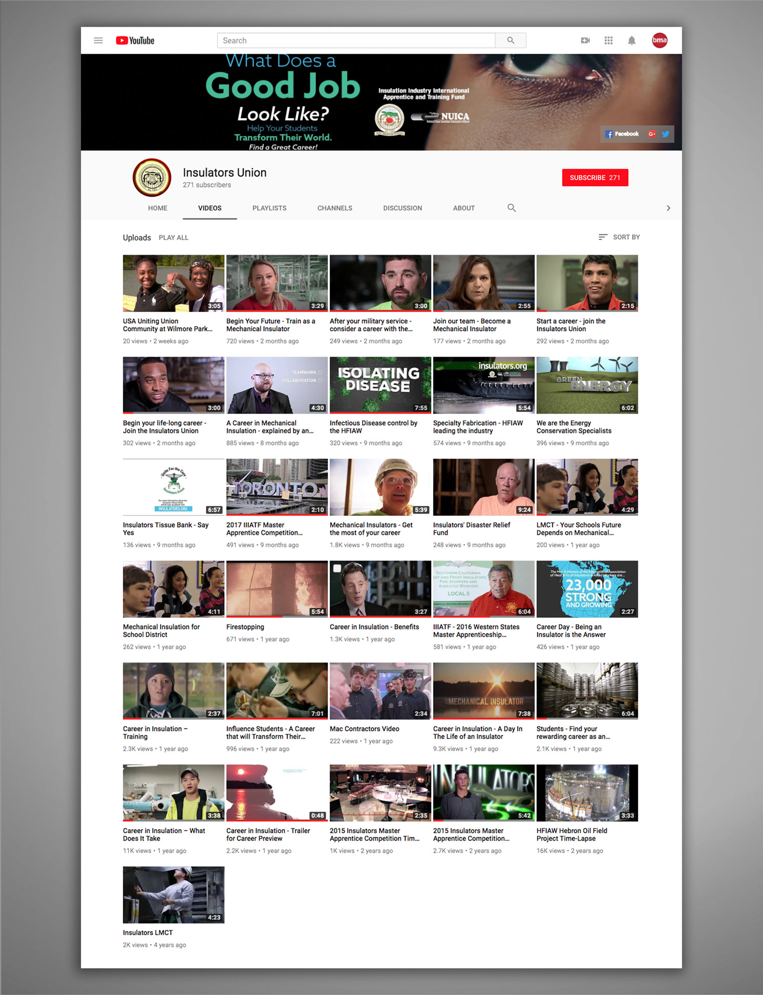 Insulators Union Social Media YouTube