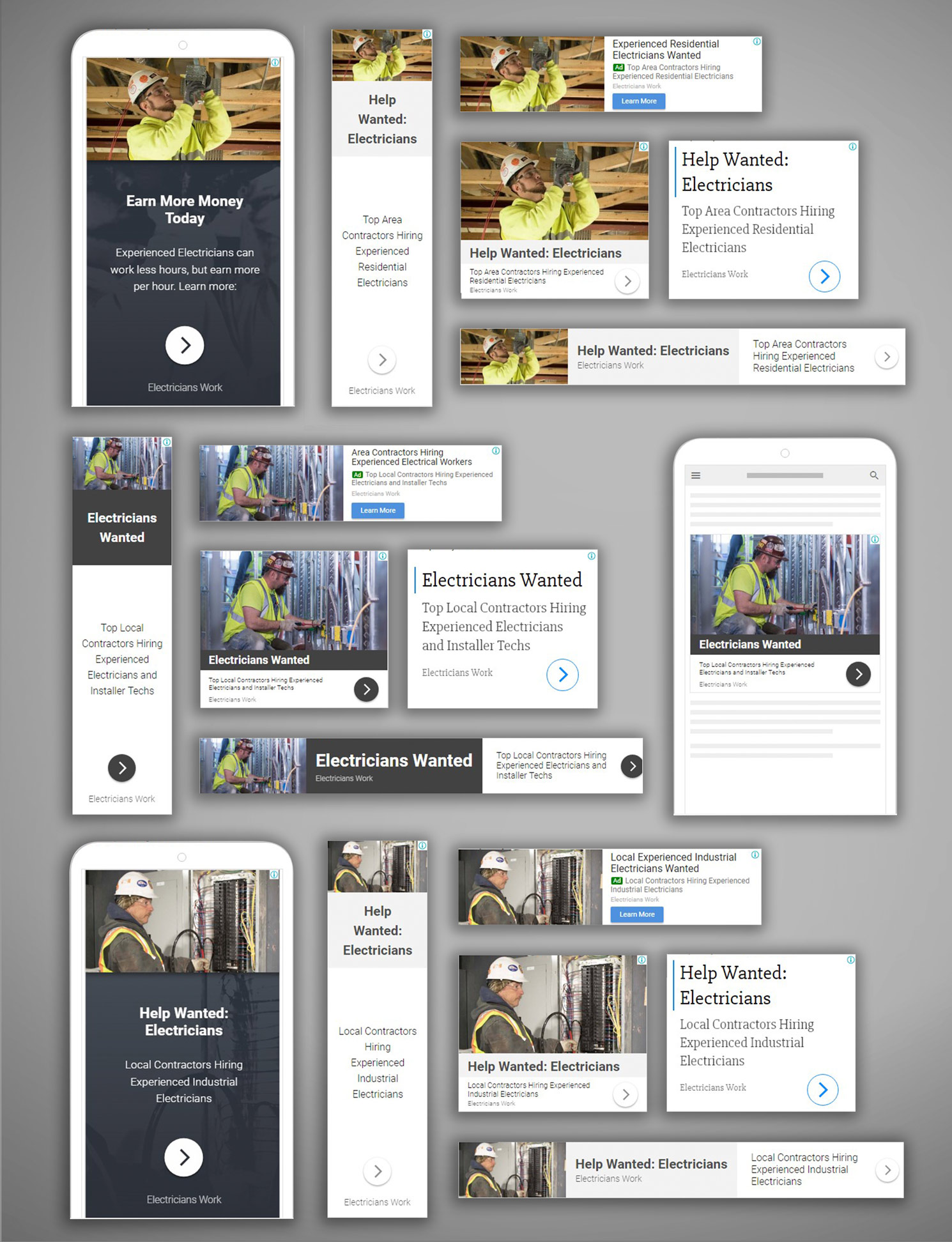 electricians work union digital advertising campaign