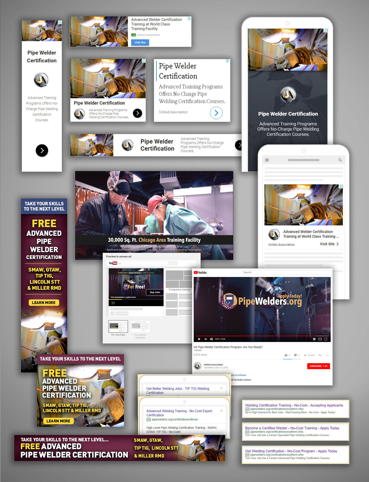 pipe welders union digital advertising campaign