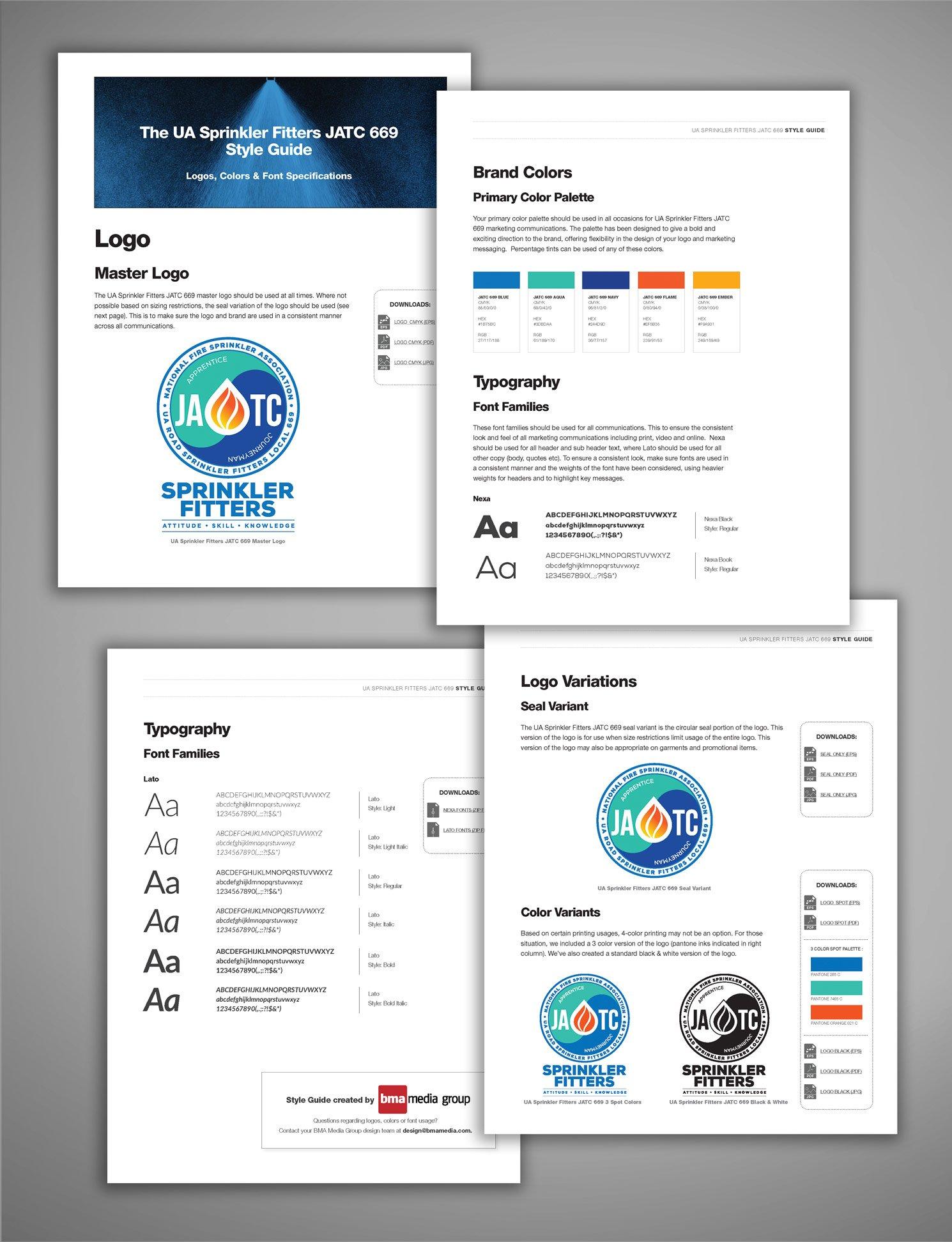 ua sprinkler fitters 669 jatc union branding campaign