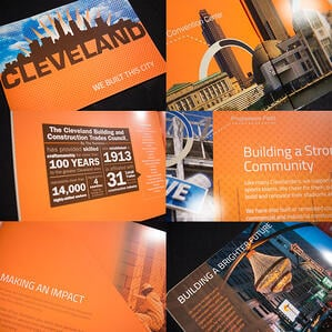 custom printed union building trades brochure