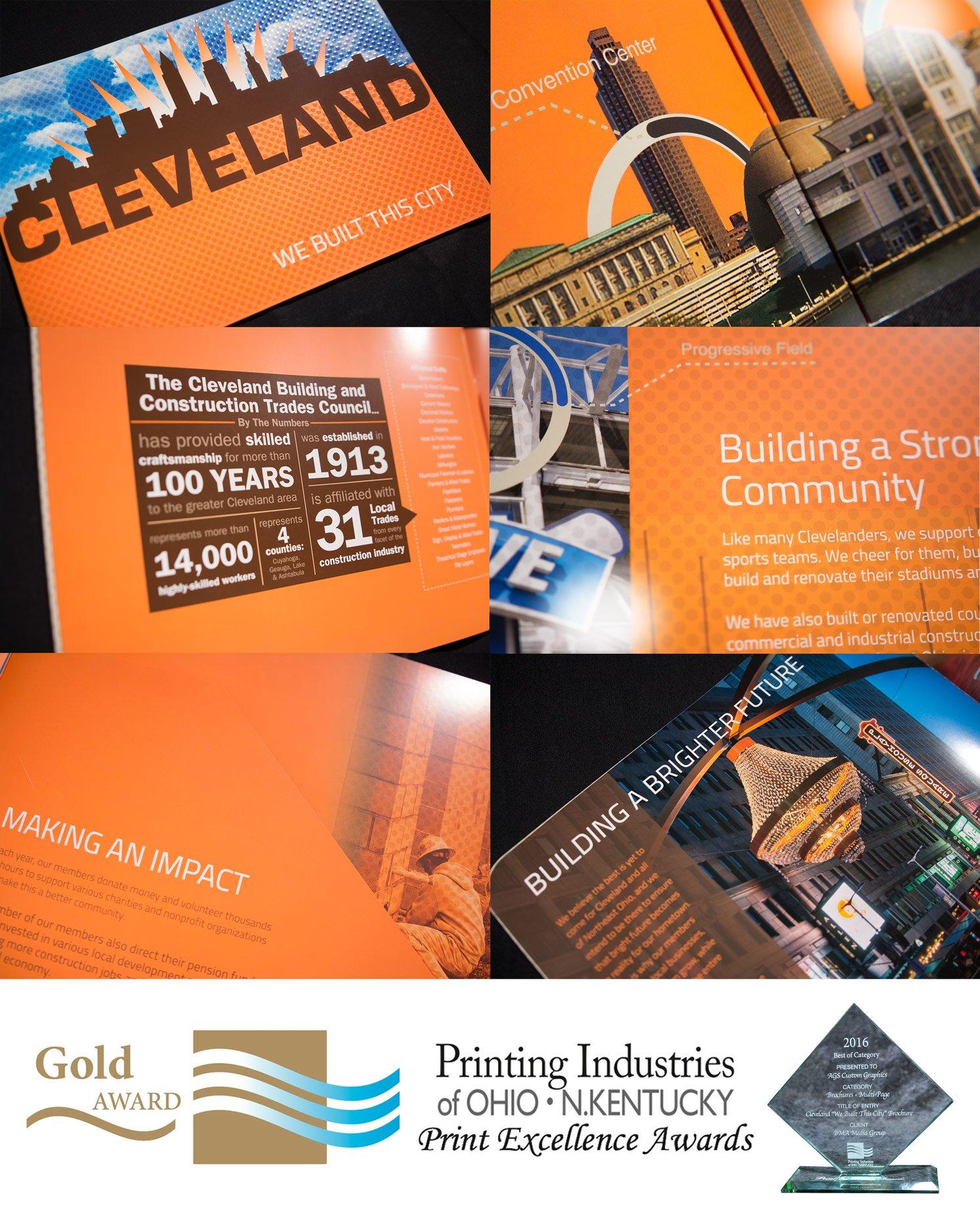 Cleveland Building Trades custom printed showcase brochure