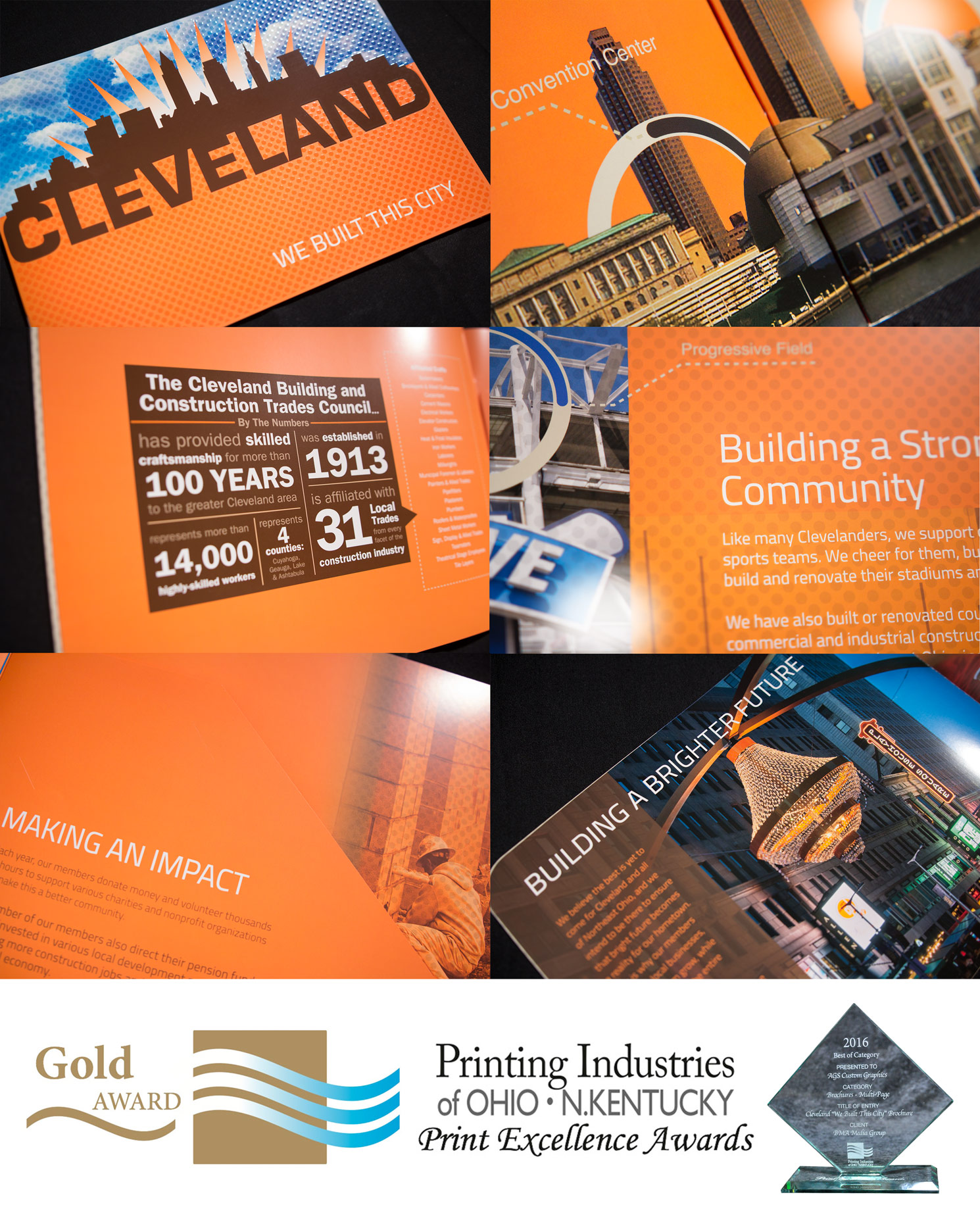 Cleveland Building Trades custom printed showcase brochure