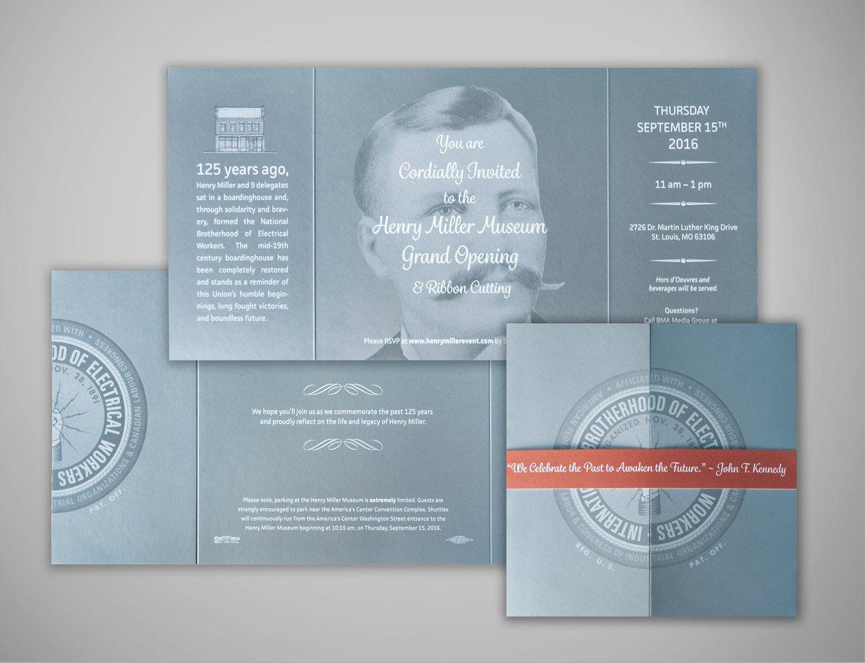 IBEW Henry Miller Invite Custom Designed Print Items For Unions