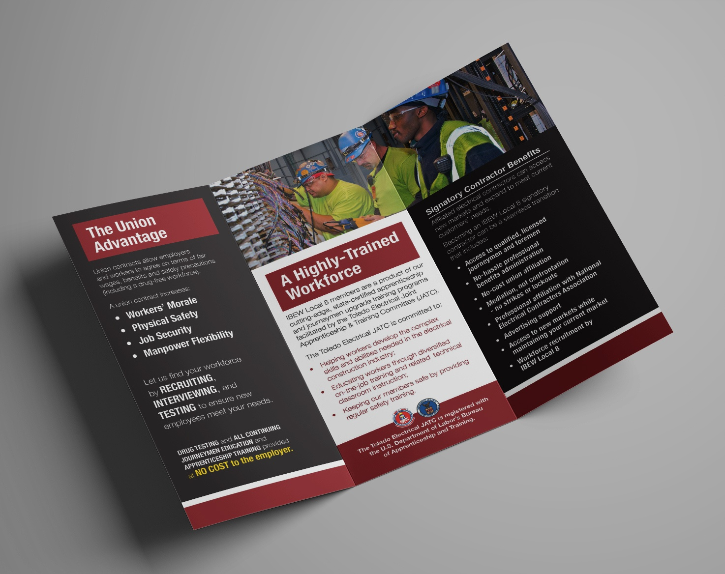 Click to view enlarged IBEW Local 8 JATC brochure