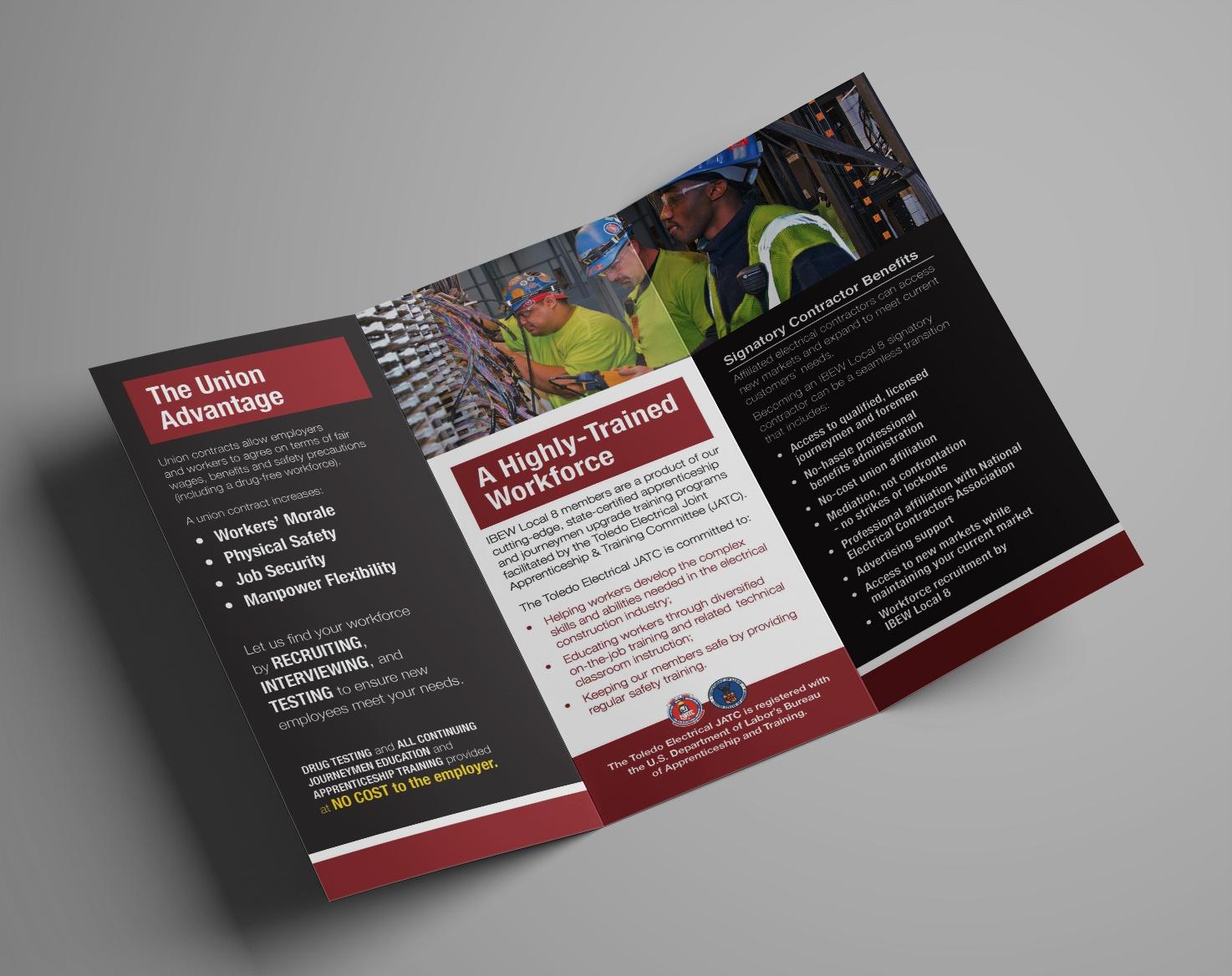 Click to view enlarged IBEW Local 8 JATC brochure