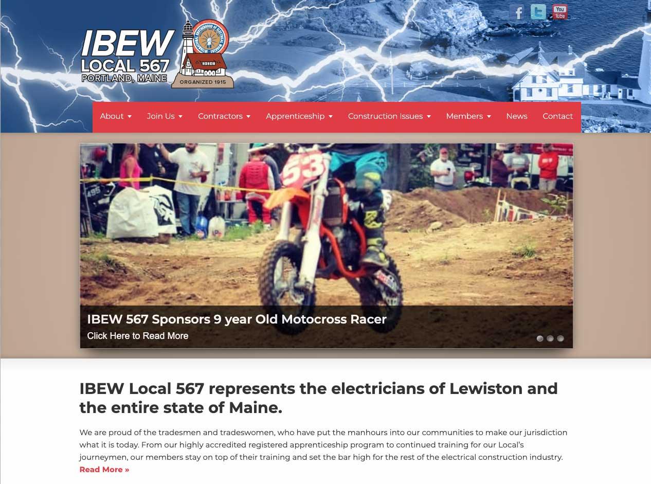 ibew locak union 567 website home page redesign