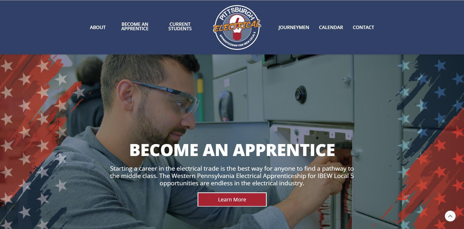IBEW Union Training Center website built by LaborTools