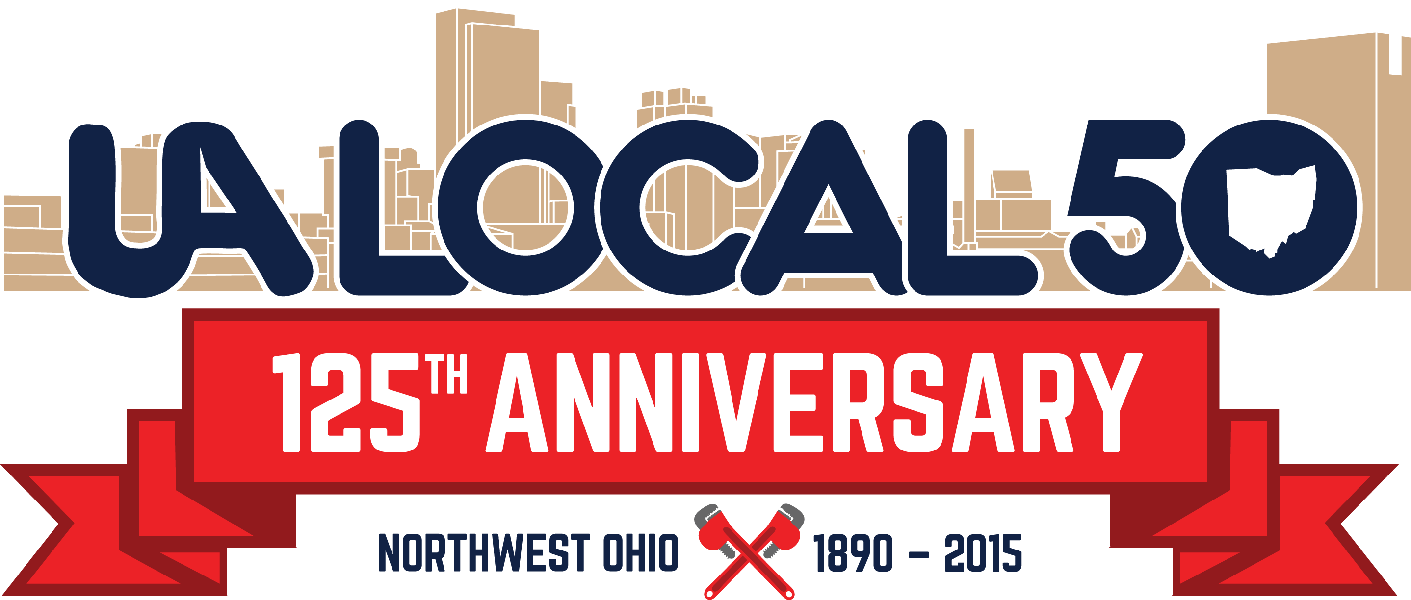 UA Local 50 125th Anniversary logo